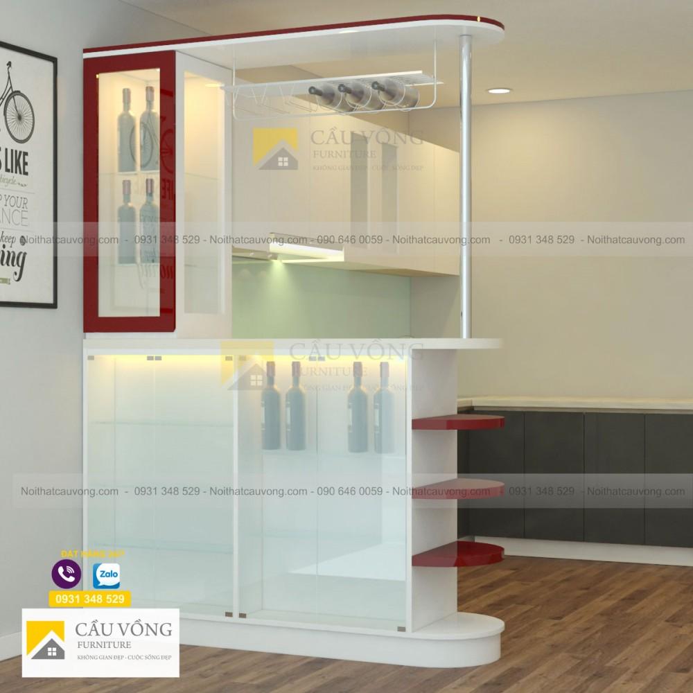 Quầy bar ngăn phòng bếp và phòng khách TR94