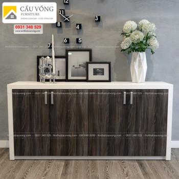 Tủ gỗ trưng bày phòng khách hiện đại TTCV88
