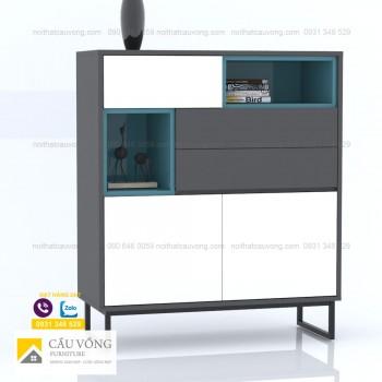 Tủ trang trí phong cách hiện đại TTCV90