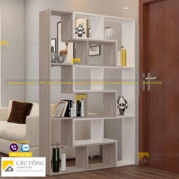 Kệ gỗ vách ngăn phòng khách VN97