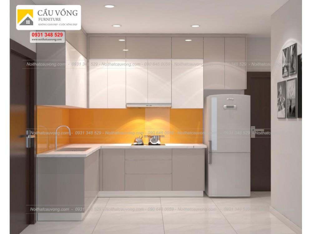 20+ Mẫu tủ bếp Acrylic hiện đại