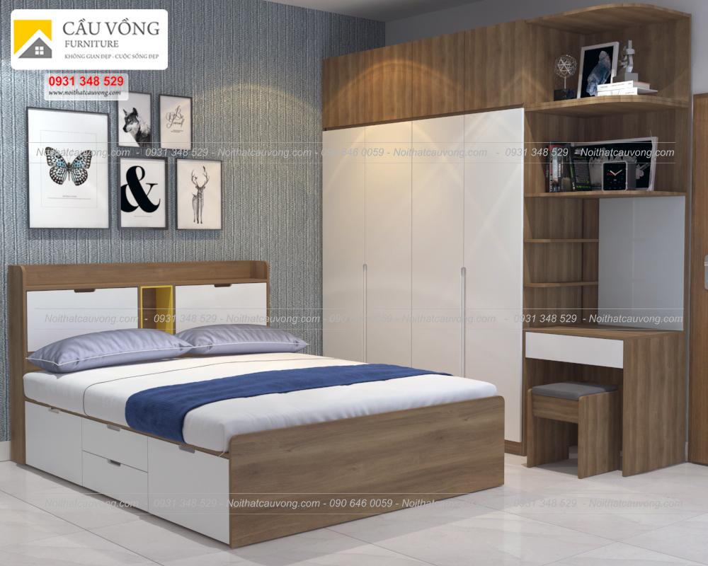 Bộ phòng ngủ đẹp gỗ an cường