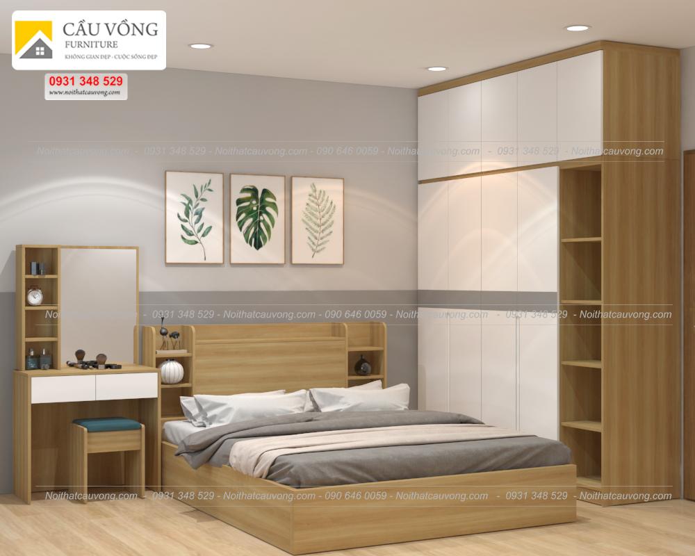 Bộ phòng ngủ gỗ công nghiệp hiện đại BPN85 (Ảnh 1)