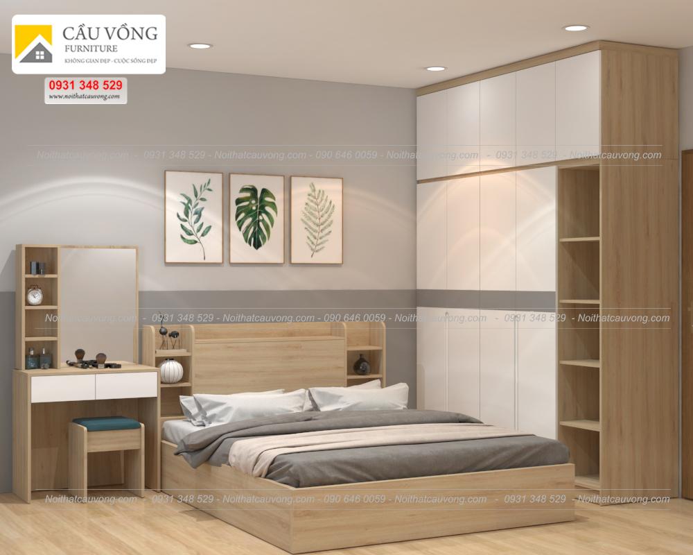 Bộ phòng ngủ gỗ công nghiệp hiện đại BPN85 (Ảnh 2)