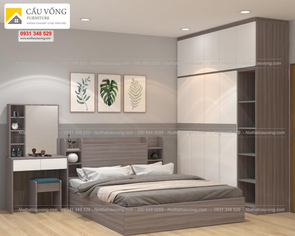 Bộ phòng ngủ gỗ công nghiệp hiện đại BPN85 (Ảnh 3)