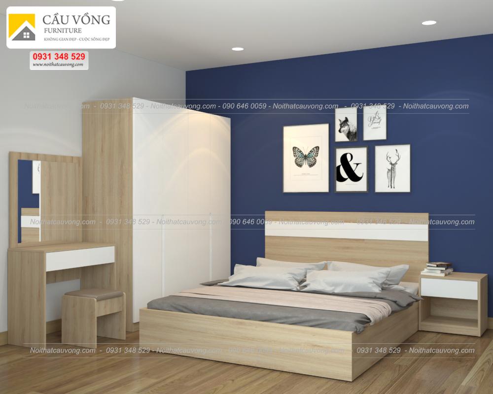 Bộ giường tủ phòng ngủ đẹp