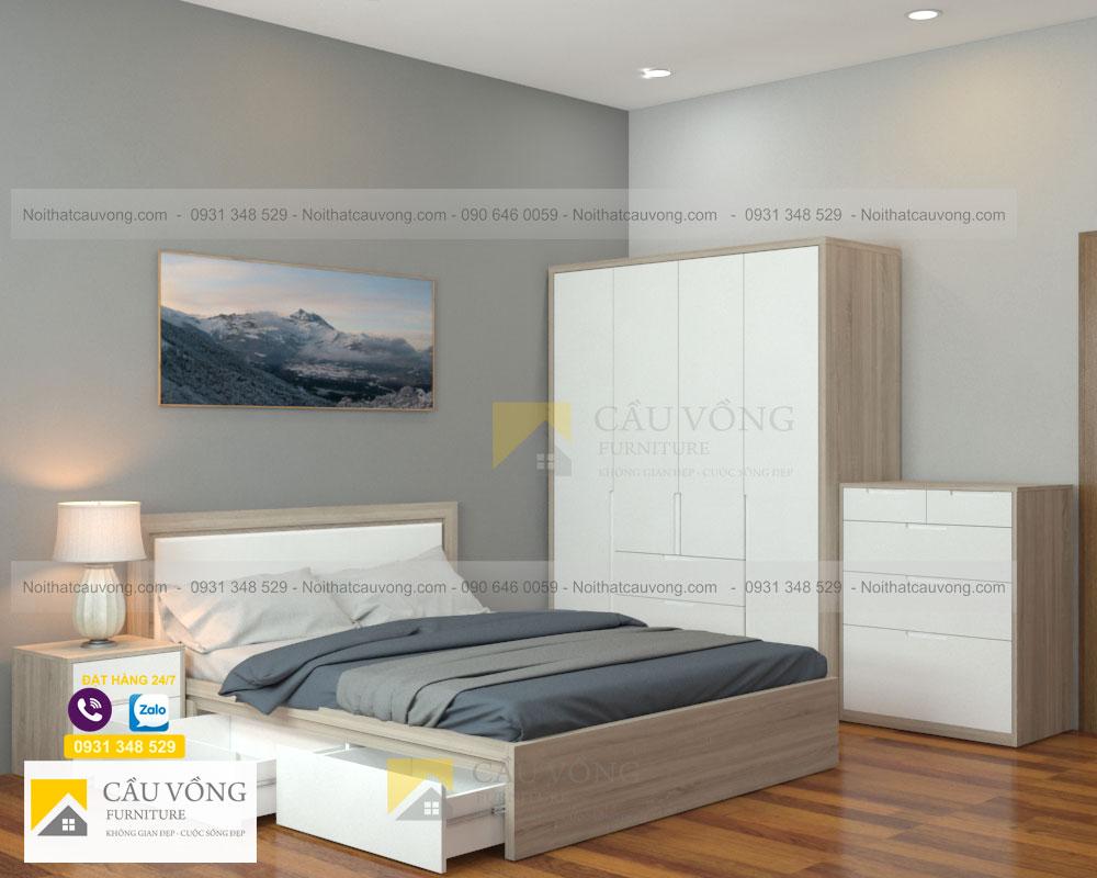 bộ phòng ngủ màu gỗ