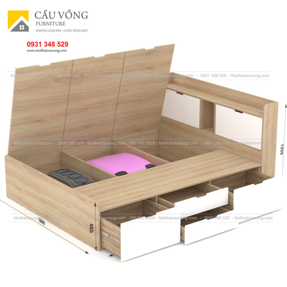 Giường ngủ hiện đại có ngăn kéo gỗ công nghiệp GCV31 (Ảnh 1)