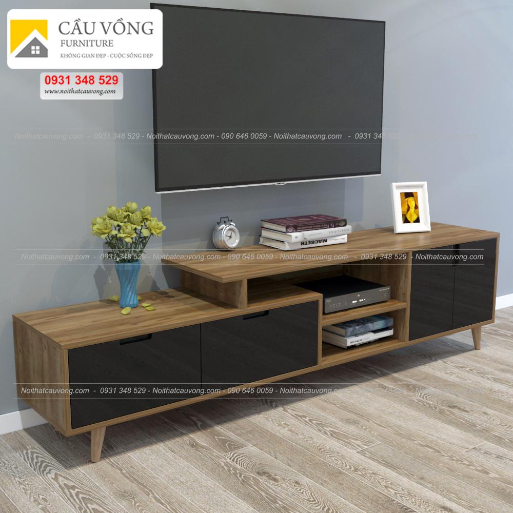 Mẫu kệ tivi đẹp gỗ công nghiệp