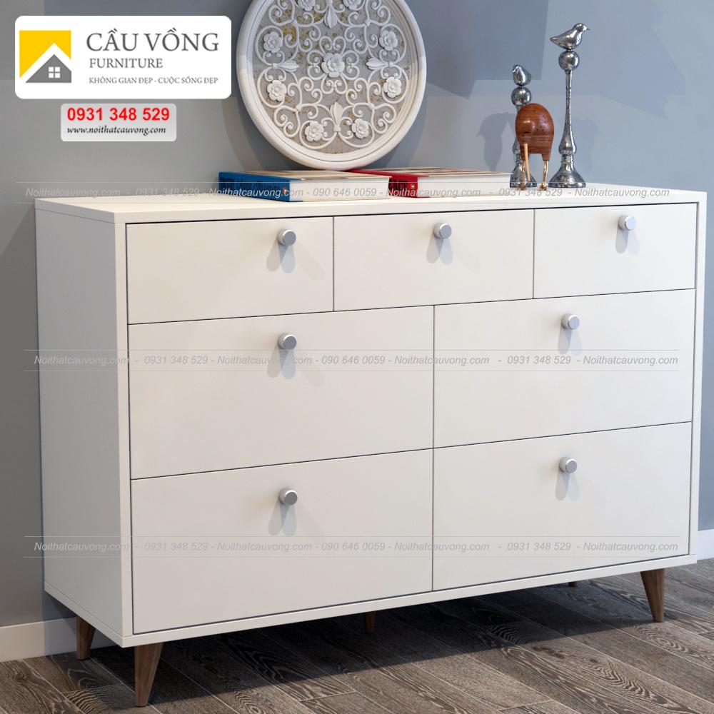 Tủ ngăn kéo màu trắng